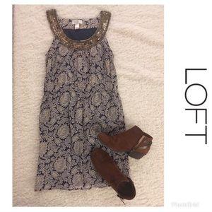 LOFT Sequin Detail Sleeveless Dress